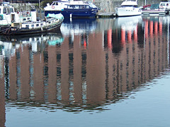 Royal Albert Docks, Liverpool, England (teresue) Tags: 2017 uk unitedkingdom greatbritain england merseyside liverpool reflection albertdock royalalbertdock liverpooldocks