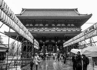 Rainy Day at Thunder Gate, Senso-Ji Temple, Asakusa, Tokyo 2006