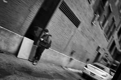 Chicago Alley - 38/100 X (EXPLORED) (mfhiatt) Tags: dscf00320318jpg chicago illinois outoffocus oof blackandwhite street streetphotography 100xthe2018edition 100x2018 image38100 urbanblur blur fujix100f