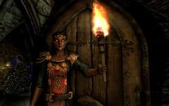 Raina ~ Vampire (Rain Love AMR) Tags: skyrim tes theelderscrolls pc gaming screencap screenshot bosmer woodelf torch