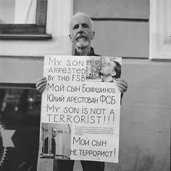 "The Father of the ""Terrorist"" (AStomatin) Tags: russia petersburg town city protest revolution terror terrorist resident analog film bronica ectl medium format fuji fujifilm bnw blackandwhite people photo policy goverment"