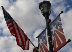 Flag Light (pics by ben) Tags: iowafalls iowa ellsworth hardin walk northiowa iowariver midwest