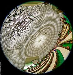 Coupole du Conseil national - Siège du PCF (Paris) (L'Abominable Homme de Rires) Tags: paris architecture fisheye 815mmfisheyef4 pcf niemeyer bresil dxo photolab lightroom canon5d 5dmkiii canon