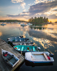 Port Clyde Reflections (BenjaminMWilliamson) Tags: boating coast coastofmaine dock image landscape lobstering me maine newengland ocean photography portclyde scenery scenic sunset usa coastal fishing harbor