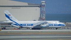 Volga-Dnepr  AN-124 RA-82078 at SFO DSC_0272 (wbaiv) Tags: sfo san francisco international airport bay area california airplane aircraft airliner jet jetliner commercial freighter cargo stuff aircargo airfreight delivery antonov an124 russlan ra82078 heavy lift airline profile parked volgadnepr volga dnepr airplanesalbum plane flying machine