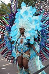 DSC_8232 Notting Hill Caribbean Carnival London Exotic Colourful Blue Costume with Ostrich Feather and Pearl Headdress Girls Dancing Showgirl Performers Aug 27 2018 Stunning Ladies Big Beautiful Woman BBW (photographer695) Tags: notting hill caribbean carnival london exotic colourful costume girls dancing showgirl performers aug 27 2018 stunning ladies blue with ostrich feather pearl headdress big beautiful woman bbw