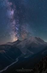 """Eruption at Emmons"" (jtorres3993) Tags: meteor perseids landscape stars nightsky milkyway washingtonstate mountrainier"
