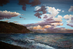Evening On The Ocean By Vladimir Volosov, Oil Painting (katalaynet) Tags: follow happy me fun photooftheday beautiful love friends