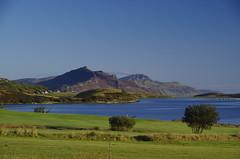 Coast and Mountains (Sundornvic) Tags: isle skye scottland island mountains morning light sun shine water rocks wild