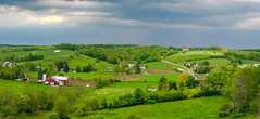 Amish Farmland (vwalters10) Tags: farm green sky trees building amish barn