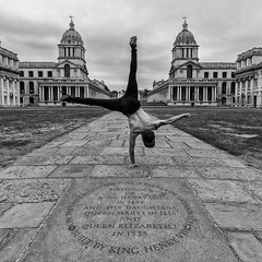 Greenwich (Sam Codrington) Tags: handstand architecture greenwich vladrusu canon5d london queenshouse england unitedkingdom gb greenwichnavalcollege oldgreenwichnavalcollege