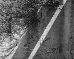 DSCF2293 (agianelo) Tags: concrete wall step streak light shadow paint peeling monochrome bw bn blackandwhite