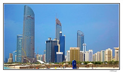 city beach in abu dhabi (harrypwt) Tags: harrypwt uae arab landscape cityscape coastal skyscrappers people city gulf canons95 s95 abudhabi beach architecture