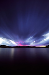 Sunset at the edge of a forgotten lake (Zeb Andrews) Tags: vermont pinhole zeroimage6x9 sunset filmphotography lensless lake scannedatbluemooncamera nikoncoolscan9000