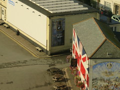 UK - Cornwall - Saltash - Union Jack mural on building (JulesFoto) Tags: uk england clog centrallondonoutdoorgroup cornwall saltash mural unionjack