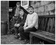 Fishermen family (AEChown) Tags: fishermen fishermensmuseum mono monochrome blackandwhite portrait environmentalportrait documentary family brothers cousins