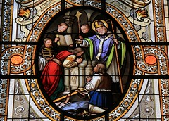 Kalocza Cathedral - Hungary (Stained Glass) (3)(F) (Richard Collier - Wildlife and Travel Photography) Tags: stainedglass stainedglasswindow stained churchwindows kaloczacathedral hungary