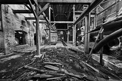Meißen Alte Ziegelei b&w 9 (rainerneumann831) Tags: meisen alteziegelei industrieruine lostplace bw ©rainerneumann treppe blackwhite blackandwhite