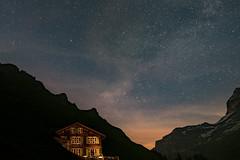 hotel obersteinberg (mcschrot) Tags: milkyway stars obersteinberg hotelobersteinberg berneroberland alps lights nightsky nikond750 tamron1530f28 sky