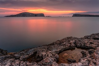 A warm sunset , Punta Roja , Ibiza ...