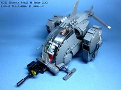 ICC Serra Mk2 (icycruel) Tags: lego moc black ice team six scifi military futuristic concept vehicles vtol gunship hardsuit