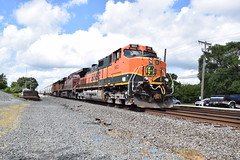 Past Phase 1 in Waterloo IN (Twigy BNSF) Tags: bnsf dash9 ns norfolk southern chicago line waterloo indiana