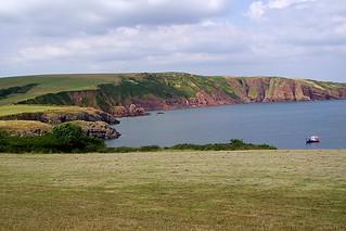 A cliff top walk