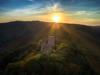 Sunbeams over the Castle