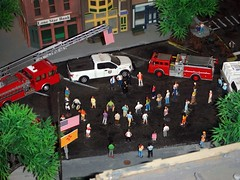 In Memory  9-11-2018 (THE RANGE PRODUCTIONS) Tags: greenlight boley walthers athearn ford fordf150 hoscalefigures 164scale 187scale laddertruck firetruck dioramas diecastdioramas diecast toy model