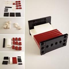 Bed instructions (Blue Striped House MOC) (betweenbrickwalls) Tags: lego bed furniture furnituredesign instructions tutorial afol