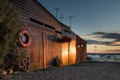 'Evening Glow' (merseamillsy) Tags: glow building sunset wooden quaint water mersea sea coastline doors tranquil yacht coastal clouds sky seascape boat coast merseaisland traditional