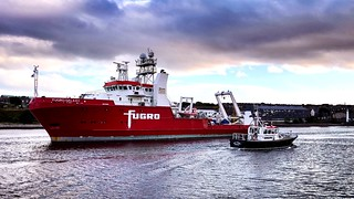 Fugro Galaxy - Aberdeen Harbour Scotland - 11/9/18