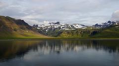 Grundarfjörður (Stefan Jürgensen) Tags: snæfellsnes peninsula iceland grundarfjörður coastline sea water reflection mountains snow clouds sky sony a77m2 a77