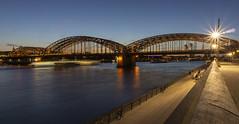 Hohenzollern Bridge (l4ts) Tags: europe germany northrhinewestphalia cologne riverrhine hohenzollernbridge sunset goldenhour longexposure nightphotography köln