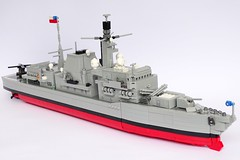 Type 23 Frigate, 1:200 Scale, LEGO Model, Chilean Navy (LuisPG2015) Tags: type23frigate hmsnorfolk royalnavy chileannavy almirantecochrane frigate dukeclass type23 lego
