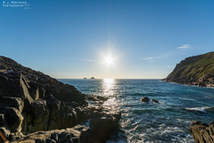 Porth Nanven Beach (M J Robinson Photography) Tags: 2017 cornwall holiday westcountry stjust st just porthnanven porth nanven beach stone boulders sea ocean coast sunset landscape photography nikon d7100 nikond7100