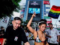 Djane in action on a Saturday afternoon at Shibuya Tokyo (Ralphs Images) Tags: streetphotography mft tokyomood olympuszuikolenses panasoniclumixg9 peopleoftokyo moods stimmungen menschen streetsoftokyo ralph´simages tokyostreetstyle shinjukucrossing