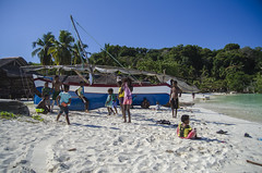 Madagascar - Kids playing on the beach (Jarecki Photography) Tags: madagascar madagaskar trip holiday lemur nos iranja nose be jarecki adventure wale turtles sea ocean africa cameleon boa spider rum fishing island