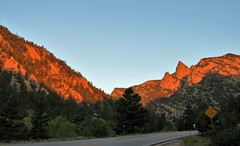 Good Morning! (Patricia Henschen) Tags: frontierpathwaysscenichistoricbyway frontierpathways sanisabelnationalforest nationalforest custer county colorado mountains road roadside trip sunrise wetmore pathscaminhos rural countryside wet sanisabel