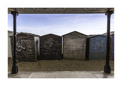 The backside of Broadstairs.© (wpnewington) Tags: kent seaside coast broadstairs sand huts grafitti