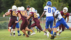 Wilcox following his blockers for a TD (AppStateJay) Tags: 2018 action athlete athletics football game gryphons home nc nikond500 northcarolina rutherfordcounty season sport tjca tarmon70200mmf28 tarmon70200mmf28dildifmacro team thomasjeffersonclassicalacademy varsity