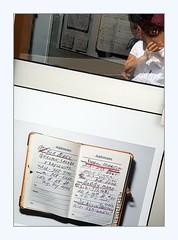 Hi there (overthemoon) Tags: switzerland suisse schweiz svizzera romandie vaud vevey veveyimages biennaledesartsvisuels henryleutwyler franksinatra phonebooth cabinetéléphonique reflection me addressbook carnetdadresses frame handwriting
