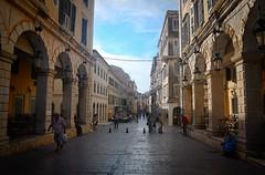 corfu-oldtown-street (petern1694) Tags: corfu corfuoldtown street architecture venetianarchitecture buildings vacation holidays canon canon500d eos geece ionianisland