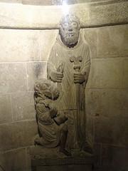 Romanesque sculpture of Santo Domingo saving a lost pilgrim. (Beyond the grave) Tags: caminodesantiago spain santodomingodelacalzada santodomingo sculpture romanesque art