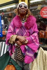 Cecilia brings more than a touch of glamour to Brick Lane Market (Yekkes) Tags: glamorous fabulous outrageous inspirational fashion fashionable glasses market london spitalfields eastend confident bricklane fleamarket street urban city