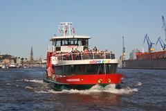 HADAG: Fährschiff HAMBURGENSIE am Fähranleger Altona (Fischmarkt) (Helgoland01) Tags: hadag schiff ship ferry fähre hamburg fluss river elbe deutschland germany