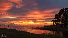 Sunset over Lake Washington (Michael Seeley) Tags: 2018 canon fl florida lake lakewashington landscape melbourne mikeseeley shoreline spacecoast sunset