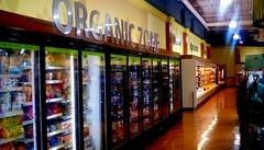 Organic food department - SS (Maenette1) Tags: organic foods frozen sign jacksfreshmarket menominee uppermichigan signsunday flicker365 allthingsmichigan absolutemichigan projectmichigan