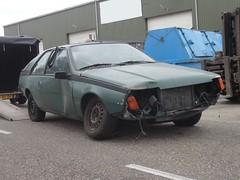 my new car / mijn nieuwe auto (Fuego 81) Tags: renault fuego 1981 hb12sv onk autowrak wreck epave recycling scrap schroot schrott autodemontage