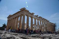Athens - Acropolis - the Parthenon (kutruvis nick) Tags: greece hellas attiki athens acropolis parthenon temple archeological site historical architecture ancient people sky daylight rocks nikon d5100 nik kutruvis